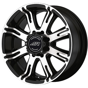 American Racing Ribelle AR708 Satin Black W/ Machined Face