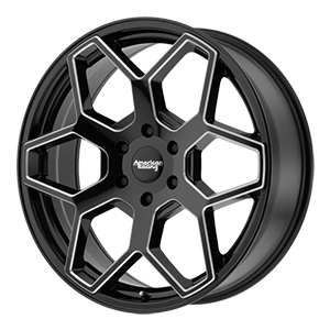 American Racing AR916 Gloss Black W/ Milled Spokes