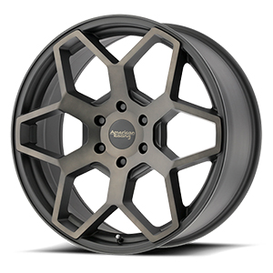 American Racing AR916 Satin Black Machined W/ Tinted Clear