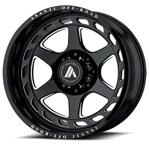 Asanti Offroad AB816 Gloss Black W/ Milled Spokes