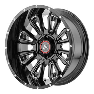 Asanti Offroad AB808 Gloss Black W/ Milled Spokes