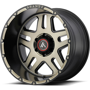 Asanti Offroad AB809 Matte Black Machined W/ Tinted Clear