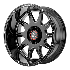 Asanti Offroad AB810 Gloss Black W/ Milled Spokes
