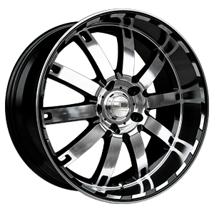 HD Wheels Autobahn Black W/ Polished Face