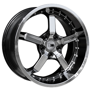 HD Wheels CD20 Iridium Black Machined