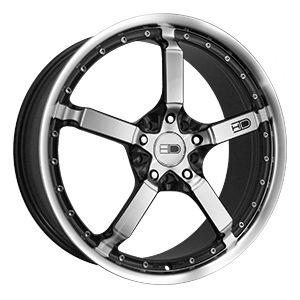 HD Wheels Cool Down Iridium Black Machined