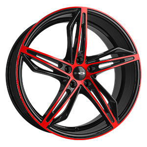 HD Wheels Fly-Cutter Black W/ Red Face