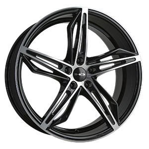 HD Wheels Fly-Cutter Gloss Black Machined