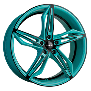 HD Wheels Fly-Cutter Gloss Teal W/ Black Face