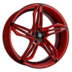 HD Wheels Fly-Cutter Red W/ Black Face