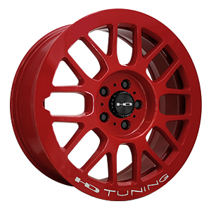 HD Wheels Gear Gloss Red W/ Milling