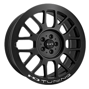 HD Wheels Gear Satin Black W/ Milling