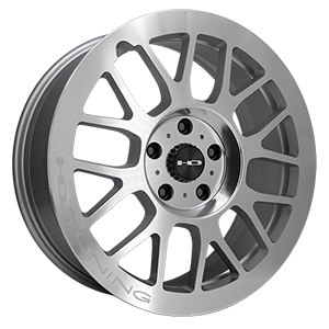 HD Wheels Gear Silver Machined Polished Face