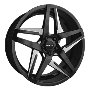 HD Wheels Hairpin Satin Black Milled Face