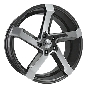HD Wheels Kink Gunmetal w Brushed Face