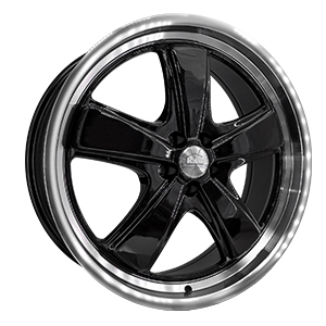 HD Wheels P1 Classic Gloss Black Machined Lip