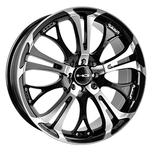 HD Wheels Spinout Gloss Black Machined