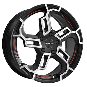 HD Wheels Switch Satin Black Machined W/ Redline