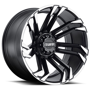 TUFF A.T. T21 Matte Black W/ Tinted Machined Flange