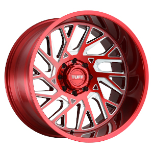 TUFF A.T. T4B Machined Candy Red Milled Left