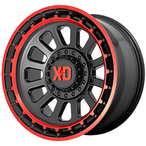 XD Series XD856 Omega Black W Red Tint