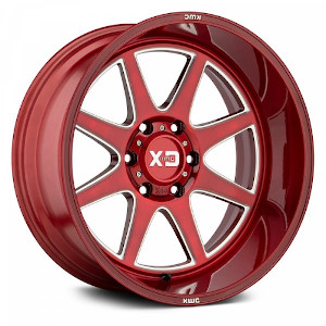 XD Series XD844 Pike Brushed Red W/ Milled Acc