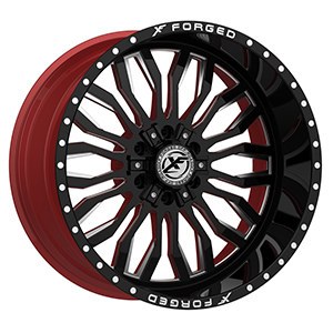 XF Forged XFX-305 Gloss Black Red Milled