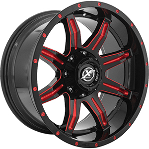 XF Offroad XF-215 Gloss Black Red Milled