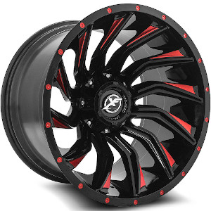XF Offroad XF-224 Gloss Black Red Milled