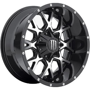 Monster Energy DS645 Gloss Black W/ Machined Face