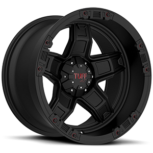 TUFF A.T. T10 Wide Matte Black W/ Red Accents
