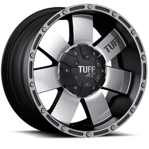 TUFF A.T. T02 Black W/ Machined Face & Flange